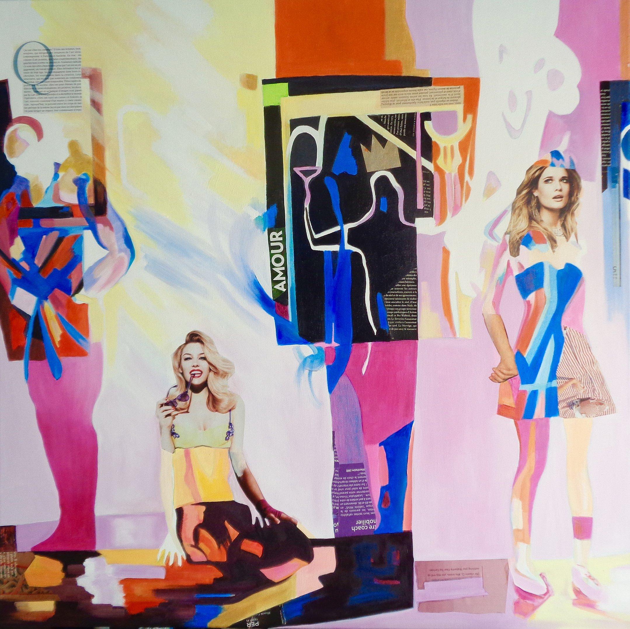 Gallery Girls 100x100 mixed media